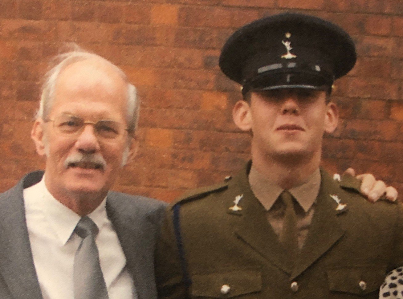 Ben Gallagher with his grandfather
